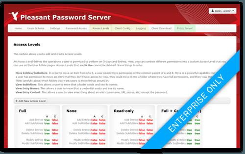 Passwort Manager Accesslevels