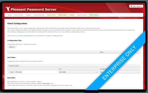 Passwort Manager Konfiguration