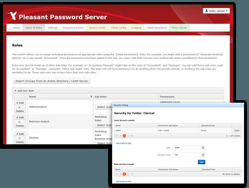 Passwort Manager Rollen
